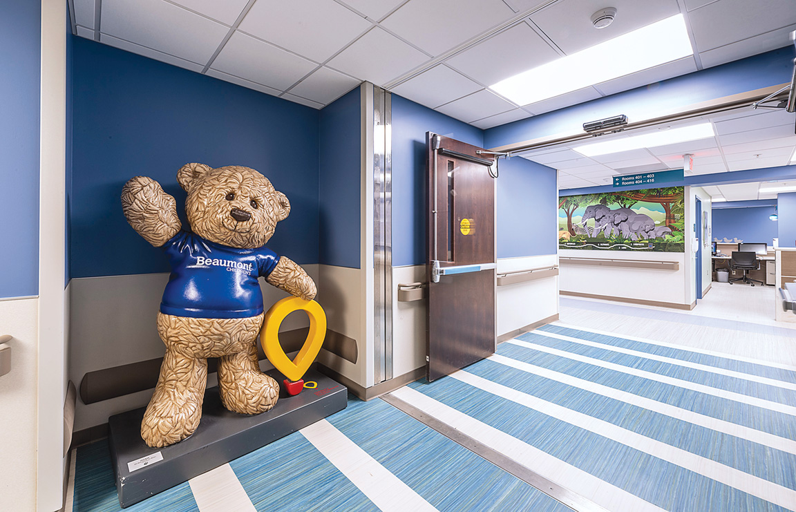 Beaumont Health's Beau the Bear statue