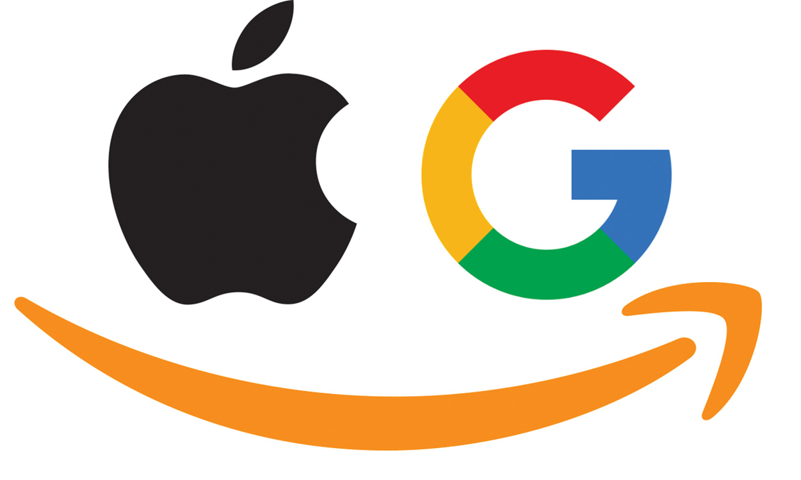 Apple, Google and Amazon
